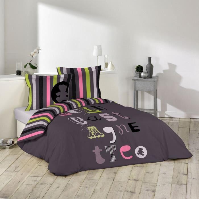 housse de couette lulu castagnette achat vente housse. Black Bedroom Furniture Sets. Home Design Ideas