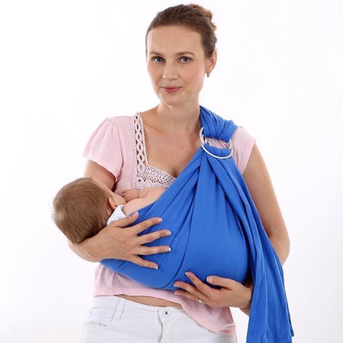 Infantile - fronde infantile - anneau porte-bébé - porte-bébé - porte-bébé  nouveau-né (Bleu) a7d724ebafb