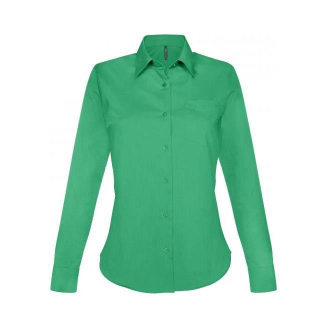 ba9dc2ae1576e Chemise Vert Irlandais pour femme.Manches longues  JESSICA.K549.Polyester-Coton