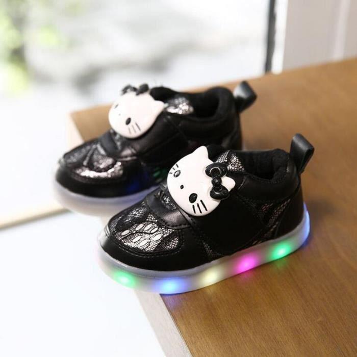 2017 Nouveau Moins Cher Printemps Automne Hiver Enfants de Sneakers Enfants Shoes Chaussure Enfant BonjourShoes Avec LED Lumière