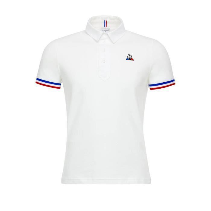 870f25611cb2 Polo Le Coq Sportif Polo Tricolore Blanc Homme Blanc Blanc - Achat ...