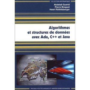 LIVRE PROGRAMMATION Algorithmes et structures de données avec Ada, C++