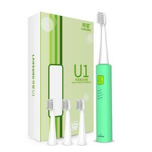 BROSSE A DENTS ÉLEC Couleur Vert Brosse à dents USB charge  électrique