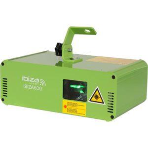 ECLAIRAGE LASER IBIZA IBIZA60G Effet Laser DMX Vert 60mW