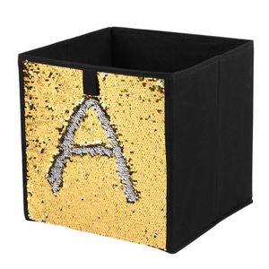 BOITE DE RANGEMENT Cube de Stockage Boîte Non-Tissé Pliant Sequin Boî
