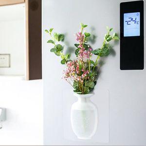 VASE - SOLIFLORE Petit vase mural en silicone blanche Décoration de