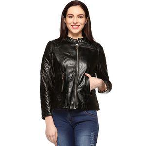 BLOUSON - VESTE Faux Veste en cuir pour femme O3UEF Taille-34