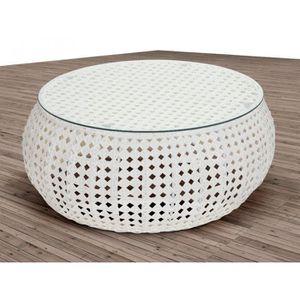 Salon de jardin resine tressee blanc - Achat / Vente Salon de ...