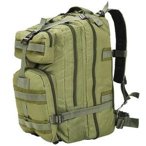 SAC À DOS vidaXL Sac à dos en style militaire 50 L Vert oliv
