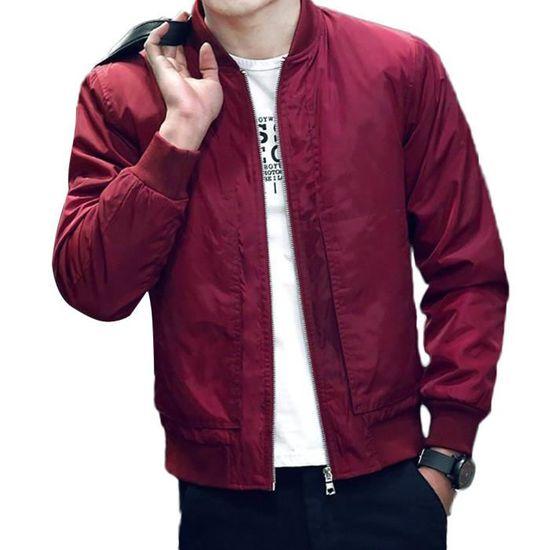 Homme Casual Zip Longues Jacket Manches Manteau Veste nN8m0w