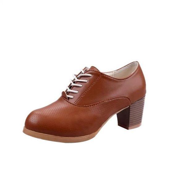 Mode femmes fille plat pointu haut bas Slip-on chaussures décontractées parti chaussures@Noir   HEXQ q3381 Marron Marron - Achat / Vente slip-on