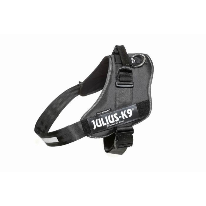 JULIUS-K9 Harnais Power IDC - 4 - XL : 96-138 cm-50 mm - Noir - Pour chien