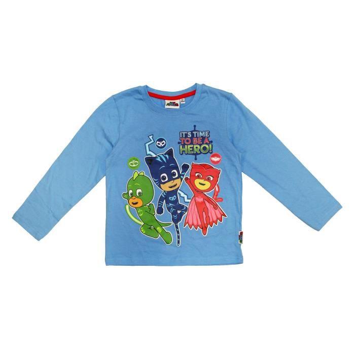 PJ MASKS Tshirt Manches longues garçon imprimé little boy blue