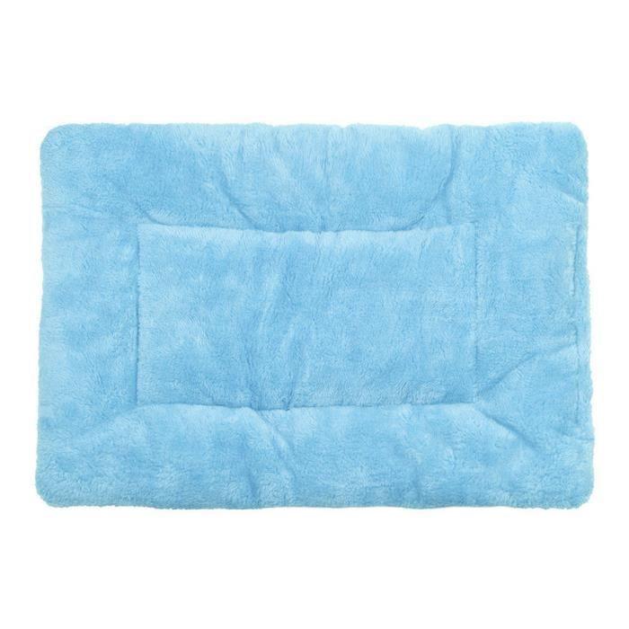 Dog Pet Blanket Coussin Chien Lit Pour Chat Doux Sommeil Chaud Mat Bleu @fournitures Animaux149
