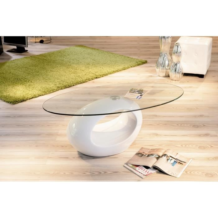 Table Basse Ronde Verre Blanche Achat Vente Table Basse Table