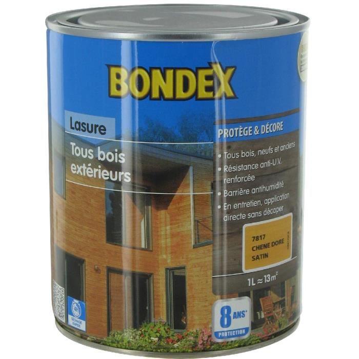 lasure tous bois exterieurs bondex ch ne dor 1l achat vente peinture vernis lasure tous. Black Bedroom Furniture Sets. Home Design Ideas