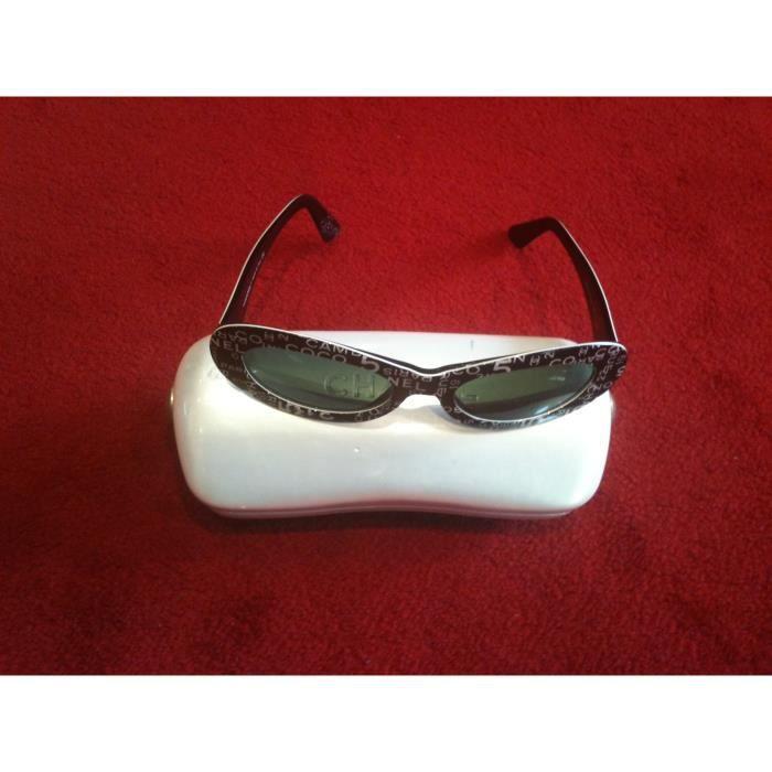 Lunettes de soleil Chanel rétro Blanc, noir - Achat   Vente lunettes ... 35f330533a18