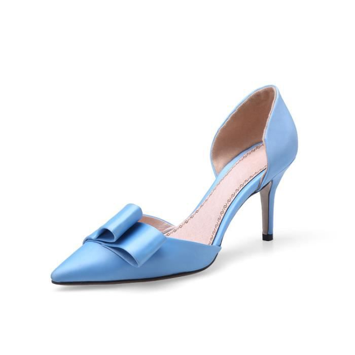 talons hauts-Pure Color Pointed Toe Stiletto ta...