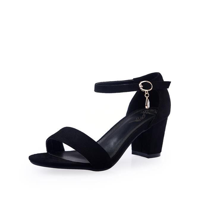 Sandales à talonCuir Femme SIMPLE FLAVOR Noir