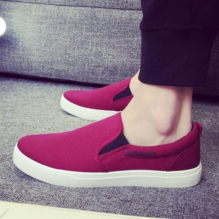L'arrivée de nouveaux British Style Flat Mode Chaussures Hommes solides Loisirs Mocassins pour Casual Male Driving Flats
