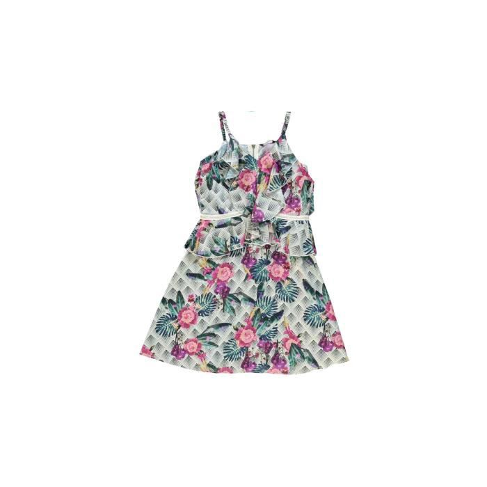 72685a9139308 Guess Robe impriné fleurs Marciano Rose J81K49 Rose Rose - Achat ...