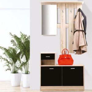 Vestiaire meuble entree noir achat vente vestiaire meuble entree noir pas cher soldes d s - Vestiaire meuble d entree ...