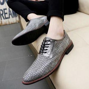 Mocassins en cuir véritable Chaussures Hommes Chaussures Flats Hombre Noir Hommes de Oxfords,or,42,2896_2896