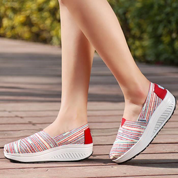 chaussure femmes Nouvelle arrivee Confortable Moccasin plates à fond épais Marque De Luxe Loafer femme hauteur croissante femme