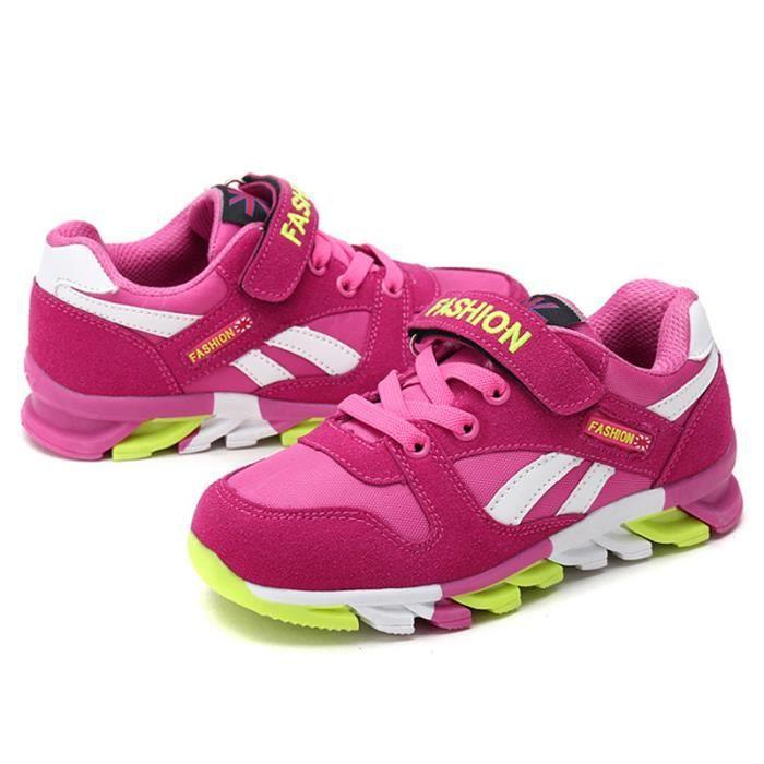 Chaussures Enfants De Sport Garçons Filles Classique Sneakers BLKG-XZ097Rose40