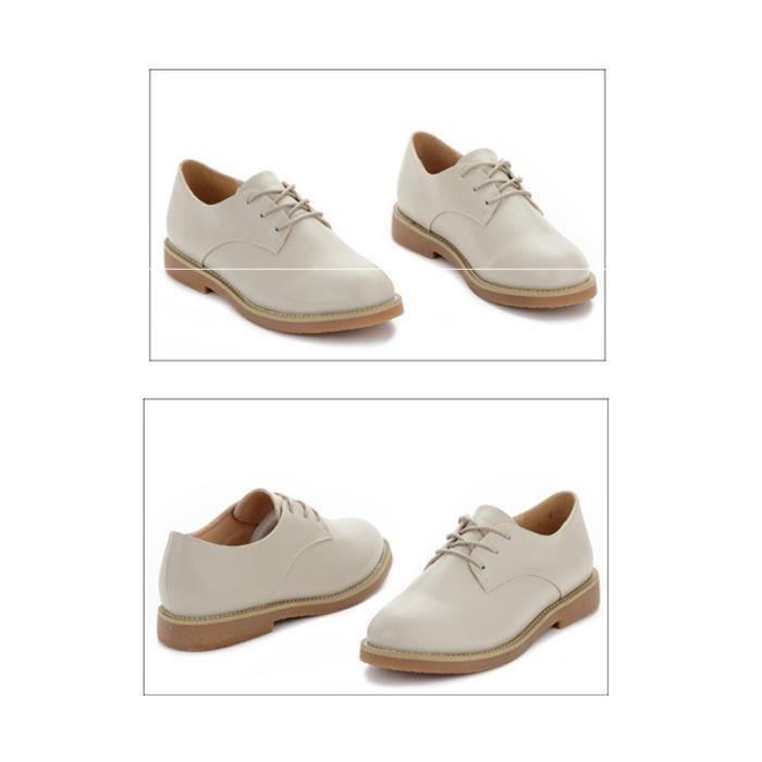 Chaussure Femme Cuir Confortable mode Mocassion chaussures de ville BTYS-XZ214Marron38