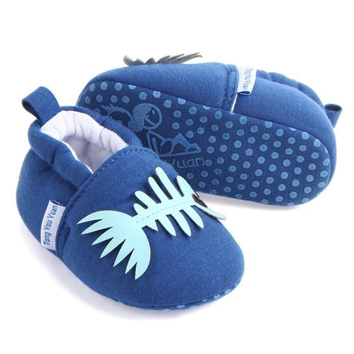 BOTTE Mignon Garçon Fille Bébé Doux Chaussures Fring Doux Soled Non-Slip Chaussures Crèche Chaussures@Gris IJB09MQ6