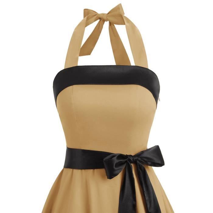 Les années 1950 sans bretelles rétro Vintage femmes Robes de bal à lacets 2R5PIP Taille-32
