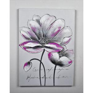TABLEAU - TOILE Tableau déco Fleurs  110 -  Toile peinte à la main