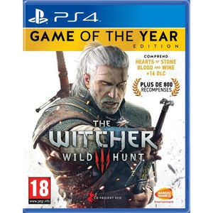 JEU PS4 THE WITCHER 3 WILD HUNT GOTY EDITION PS4 UK