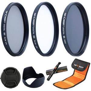 FILTRE PHOTO K&F Concept Kit de 3 Filtres 58mm (UV CPL ND4) et