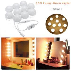 coiffeuse avec miroir lumineux achat vente coiffeuse avec miroir lumineux pas cher cdiscount. Black Bedroom Furniture Sets. Home Design Ideas