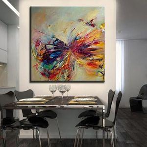 TABLEAU - TOILE Tableau Déco - 100% Peint à la main Toile Peinture