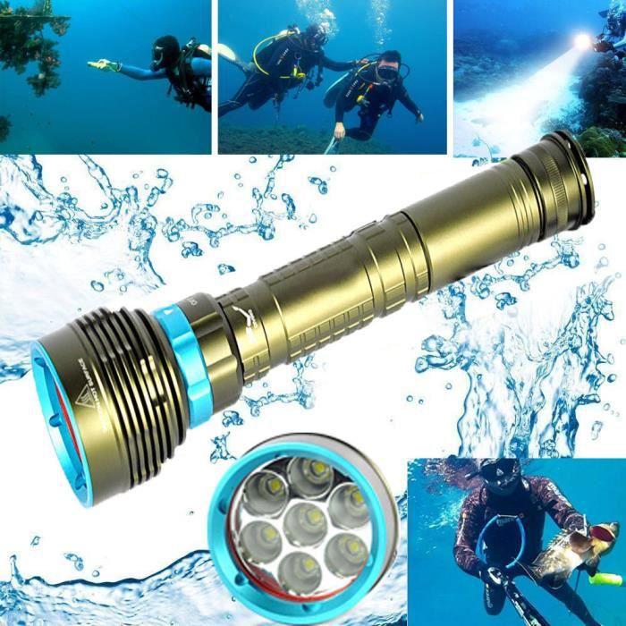 26650 L2 3x18650 Poche Plongée Lampe Marin 7x De Torche Xm Cd 4889 Marine Sous 20000lm 200 Led N0wnvm8