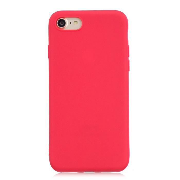 coque iphone 7 silicone apple rouge