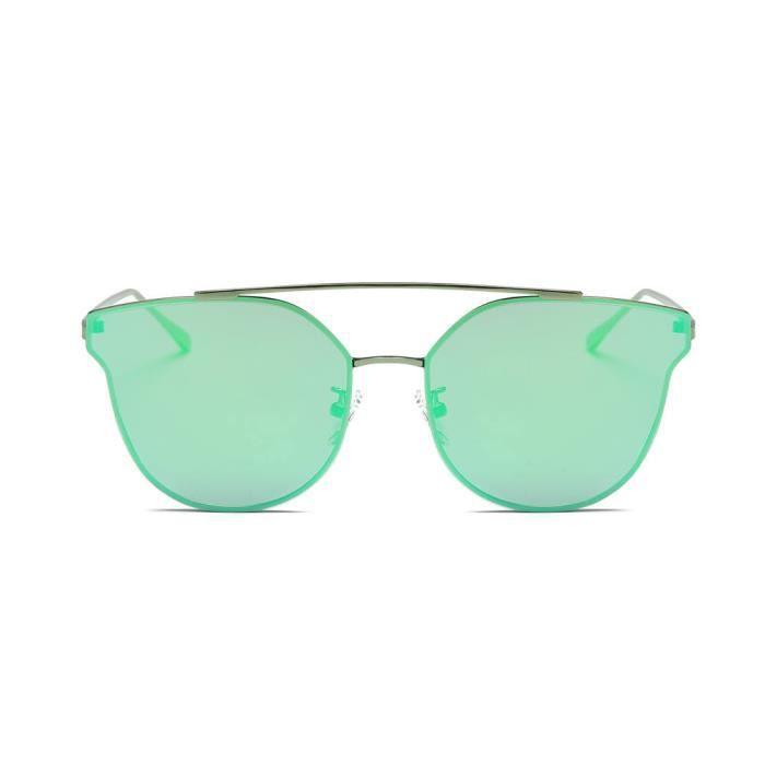 cd-8882 Femmes Hommes Vintage Retro lunettes de mode unisexe miroir Aviator Lunettes de soleil F Objectif vert