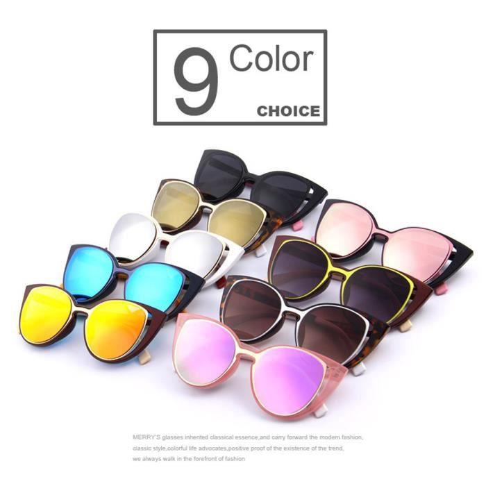 7750737006c32d Marron Lunettes de soleil femmes Cat Eye Retro Pierced 6QWoX1MX ...
