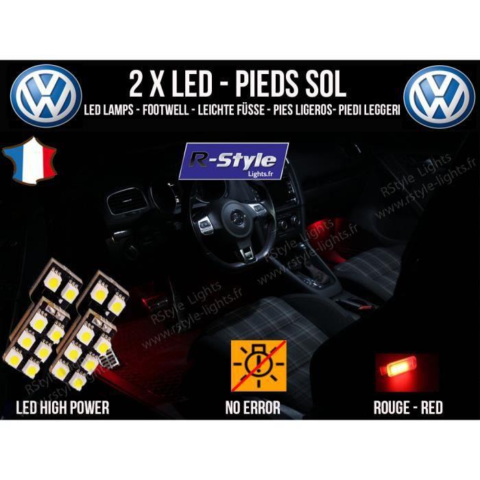 B7 3lqr54aj Rouge Led Passat 8 Éclairage Ampoules Volkswagen De Pieds qSUGMVpz