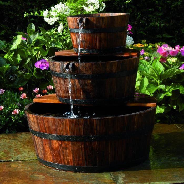 Fontaine de jardin 3 Tonneaux en cascade - Achat / Vente fontaine de ...