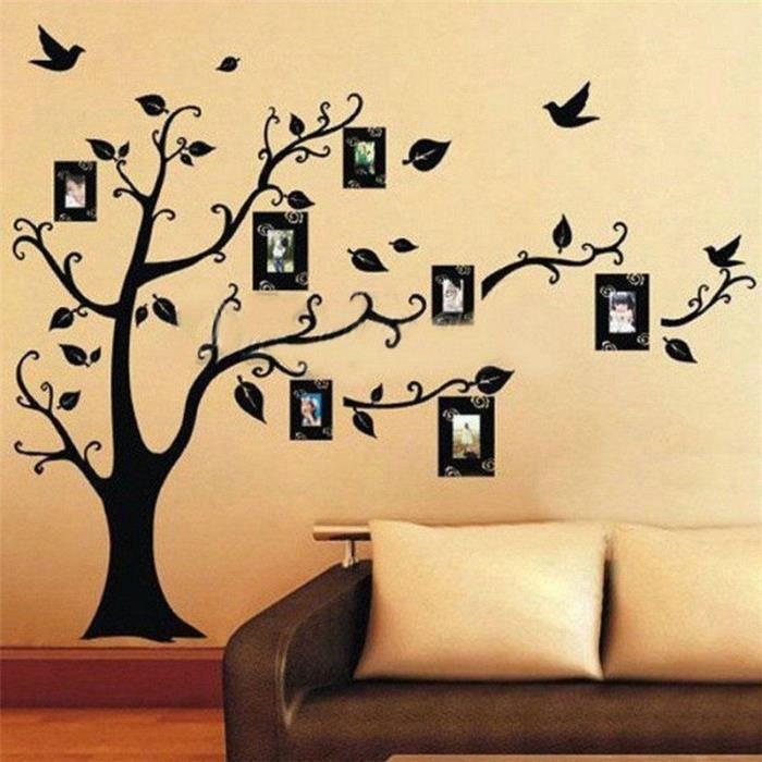 sticker mural famille d\'accueil bricolage photo de décoration ...