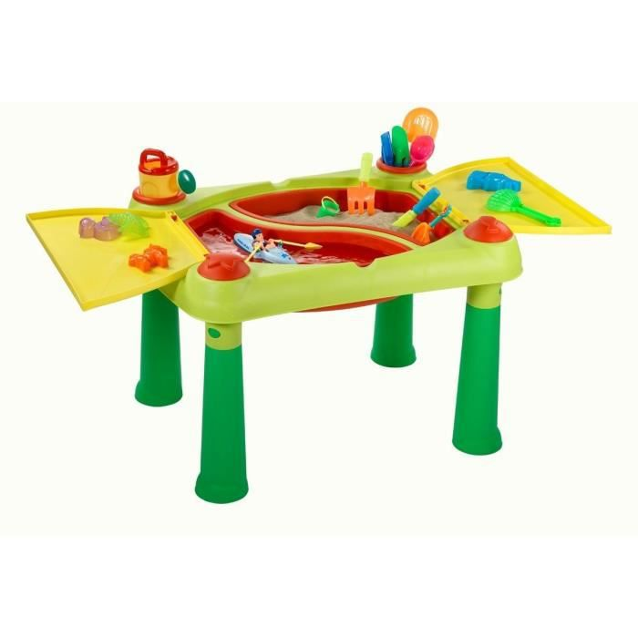 Table De Jeux Vert Et Rouge Sable Et Eau Enfant Plein Air