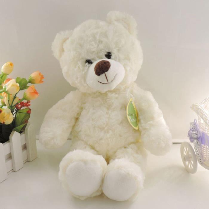 hot 30cm kawaii petit nounours des jouets en peluche peluches fluffy bear poupes les enfants des jouets hasard collier arc enf - Petit Nounours
