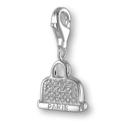 Melina Charms Pendentif sac à Main Paris Argent 925 Zircon QW834