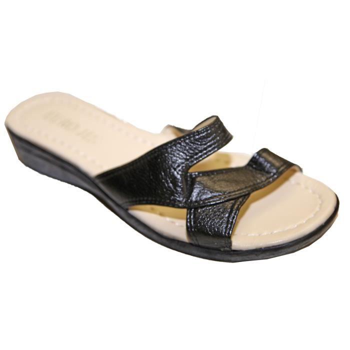 Sandales Claquettes Pieds Nus Femme Simili Cuir Confortable Pointures 37 au 42 ! I3oT4