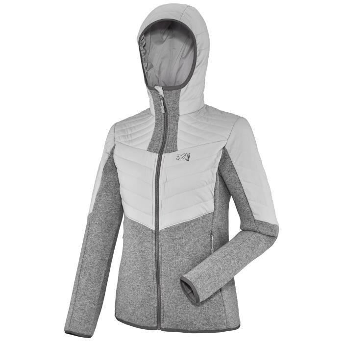 Millet Ld Wool Blouson Femm Veste Gris Iceland De Hoodie Manteau Dual Sport xOx6IZw