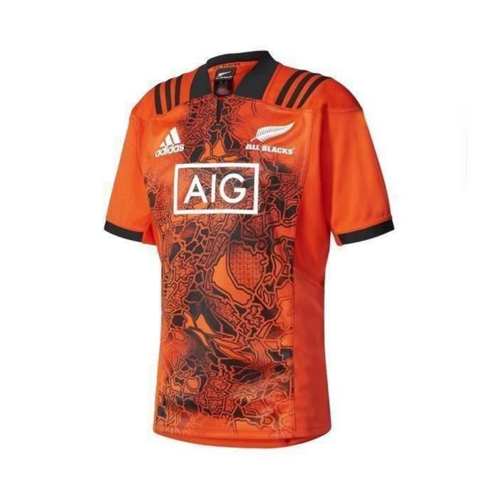 wholesale dealer 900e1 1bb85 Nouveau Maillot Adidas Nouvelle-Zélande All Blacks Saison 2017-2018 Homme  Orange
